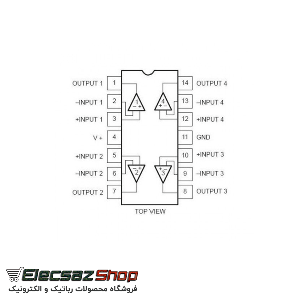 آی سی lm324n | خرید انواع آی سی| فروشگاه الکسازشاپ|